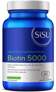 Sisu High Potency Biotin 5000 60 Veg Caps | 777672014450