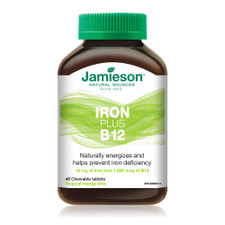 Jamieson Iron Plus B12 - Mango Lime 45 Chewable Tablets   064642091727