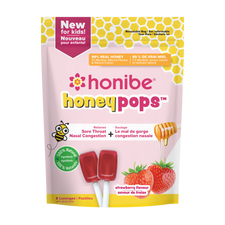 Honibe Honeypops - Strawberry 8 Lozenges | 663448002540