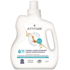 Attitude Sensitive Skin Care Natural Laundry Detergent with Oatmeal - Fragrance-Free 2L (80 Loads)   626232602050