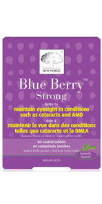New Nordic Blue Berry Strong Coated Tablets 60  741805717402