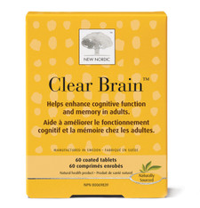 New Nordic Clear Brain 60 Coated Tablets | 741805000429