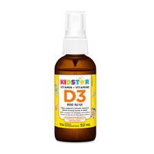 KidStar Nutrients Vitamin D3 Spray 500IU - Organic Orange 52mL (114 Sprays) | 855938001120
