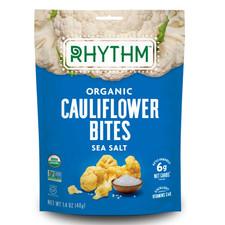 Rhythm Superfoods Organic Cauliflower Bites - Sea Salt 40g  