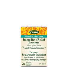 Flora Health Gluten-Free Immediate Relief Enzymes 21 Vegetarian Capsules | 061998013656