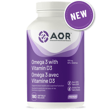 AOR Omega 3 with Vitamin D3 180 Soft Gels   624917044447