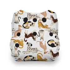 Thirsties One Size All In One Snap Diaper - Pawsitive Pals | 840015772154