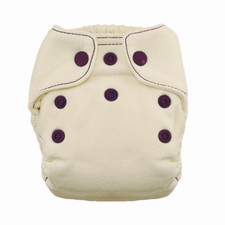 Thirsties Natural Newborn Fitted Snap Diaper Plum 5 to 14 lbs   816905029912