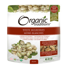 Organic Traditions White Mulberries 227 grams   627733003254