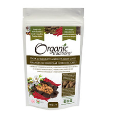 Organic Traditions Dark Chocolate Covered Almonds with Chili 100g   627733015509