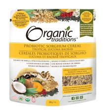 Organic Traditions Probiotic Sorghum Cereal Tropical Lucuma Baobab 200g | 627733005173