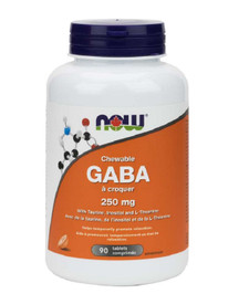 Now Foods Chewable GABA 250mg 90 Tablets | 733739800824
