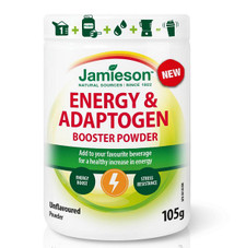 Jamieson Energy and Adaptogen Booster Powder - Unflavoured 105g   064642095848
