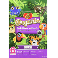 Jelly Belly Organic Fruit Flavored Snacks  Assorted 12 x 6 Pack   071570423582