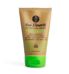 Raw Elements Certified Natural Sunscreen - Face + Body SPF30 85g - Front   858855002249