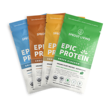 Sprout Living Epic Protein Organic Plant Protein + Superfoods 16 x 32g Pouches - Variety Pack | 852457007251