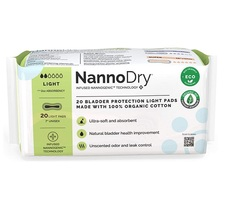 NannoCare NannoDry Bladder Protection Pads - Light 20 Count   860002271972
