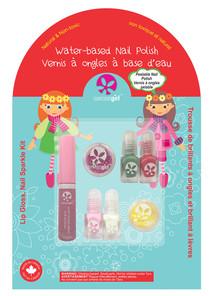SuncoatGirl Lip Gloss Nail Sparkle Kit - Holiday Magic 629003009812