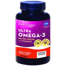 Sea-Licious Ultra Omega-3 + Vitamin D3 Softgels 120 soft gels | 884288860729