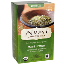 Numi Tea Organic Mate Lemon Green Tea | 680692102512