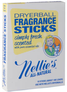Nellie's All Natural Dryerball Fragrance Sticks Simply Fresh Scented | 810648007015