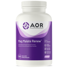 AOR Mag Malate Renew 120 Veg Capsules | UPC: 624917040111 |
