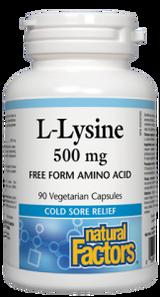 Natural Factors L-Lysine 500mg Vegetarian Capsules   068958028231