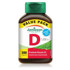 Jamieson Vitamin D 1000IU 500 tablets | 064642079602