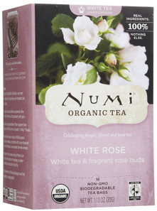 Numi Tea Organic White Rose White Tea