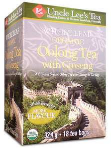 Uncle Lee's Tea Organic Whole Leaf Oolong Tea with Ginseng | 892241000785