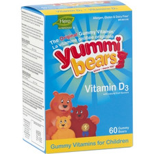 Hero Yummi Bears Vitamin D3 For Children (DISCONTINUED)