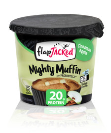 FlapJacked Mighty Muffins Mix with Probiotics Gluten-Free 55g Cinnamon Apple | 850171005164