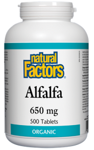 Natural Factors Alfalfa 650mg 500 Tablets