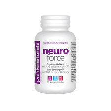 Prairie Naturals Neuro Force - Cognitive Wellness with  PQQ, Bacopa & Alpha GPC 30 Softgels |