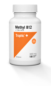 Trophic Methyl B12 + Folic Acid 180 sublingual tablets | 069967111921