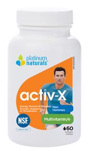 Platinum Naturals Activ-X Multivitamin for Men 60 Softgels | 773726030803