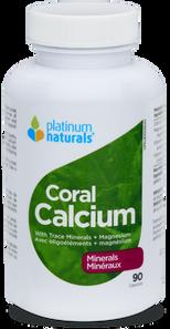 Platinum Naturals Coral Calcium with Trace Minerals + Magnesium 90 Capsules | 773726030414