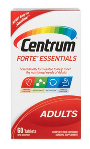 Centrum Forte Essentials Adults Complete Multivitamins and Supplement Tablets | 00062107088947