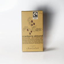Galerie au Chocolat Cranberry Almond Dark Chocolate Bar