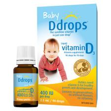 Ddrops Baby Liquid Vitamin D3 400 IU 90 Drops   0851228000071