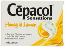 Cepacol Sensations Honey Lemon Lozenges | 0363824500607