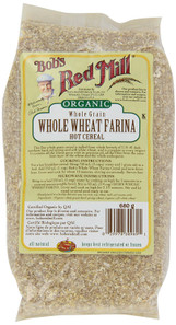 Bob's Red Mill Organic Whole Wheat Farina Hot Cereal | 039978309891
