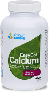 Platinum Naturals EasyCal Calcium - Extra Strength 120 Softgels | 773726031091