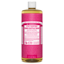 Dr. Bronner's Pure-Castile Liquid Soap Rose 946ml |018787778326