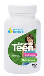 Platinum Naturals Easymulti Teen - Multivitamin for Young Women 60 Softgels    773726031176