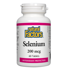 Natural Factors Selenium 200mcg 60 Tablets | 068958016702