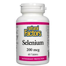 Natural Factors Selenium 200mcg 60 Tablets | 068958016702
