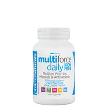Prairie Naturals Multi-Force Daily Iron-Free Multiple Vitamins, Minerals & Antioxidants 60 Capsules | 067953004585
