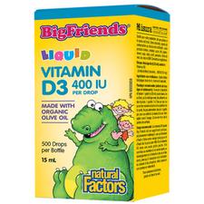 Natural Factors Vitamin D3 Drops for Kids 400 IU Liquid   068958015453