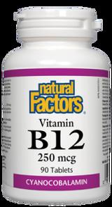 Natural Factors Vitamin B12 250 mcg Tablets | 068958012407